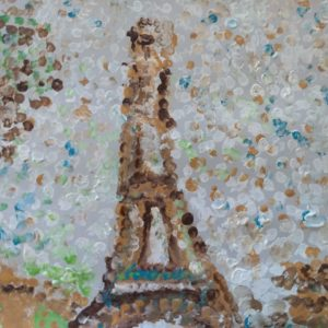 Dot art of Eiffel Tower